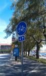 Cykelbana vid stadshuset