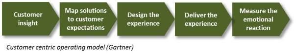 Customer centric operating model